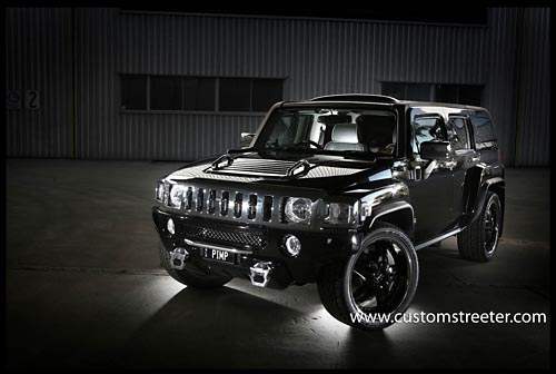 black gangster h3 hummer