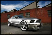 V8 Supercharged Shelby Mustang, GT500 supercharged stang. Classic mustang posters available to buy