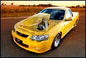 Ford V8 Vehicle - Ute, supercharged ford falcon ute built by RDP dyno steve. supercharged horsepower brutal